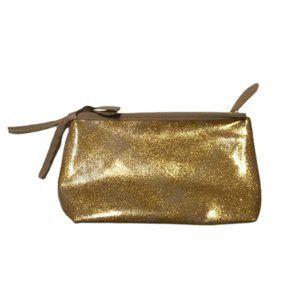 Burberry Metallic Gold Pouch Toiletry Makeup Bag
